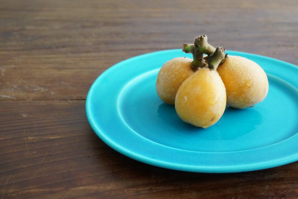 エメラルドブルーリム皿