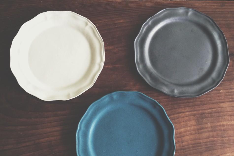 花リム皿3種